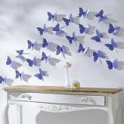 Jaamso Royals 'Dark Blue 3D Butterflies' Wall Sticker 1 Combo of 12 Piece (PVC Vinyl 13 cm x 15 cm 3D Stickers )