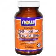 Пробиотик - Stabilized Acidophilus Three Billion - 90 таблетки, NOW FOODS, NF2913