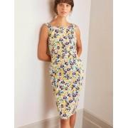 Boden Naturweiß, Pfingstrosen Heather Strukturiertes Kleid Damen Boden, 34 R, Ivory