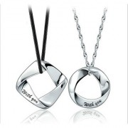 Combo of 925 Sterling Silver High Quality lovers Floating Pendant Locket Charms