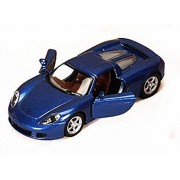 Porsche Carrera Gt, Blue Kinsmart 5081 D 1/36 Scale Diecast Model Toy Car