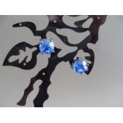 Cercei bijuterie cu cristal albastru