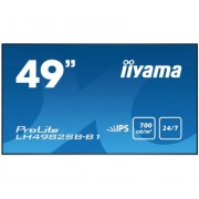 iiyama 49' Super Slim, 1920x1080, IPS panel, 6,5mm bezel width, DP, DVI, 2xHDMI, Video, USB Media, Speakers, 700cd/m², 1300:1 Static Contrast, 8ms, Landscape or Portrait mode, Video wall, LAN Control