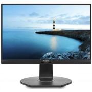 """Monitor IPS LED Philips 21.5"""" 221B7QPJEB, Full HD (1920 x 1080), VGA, HDMI, DisplayPort, USB 3.0, Pivot, Boxe, 5 ms (Negru)"""