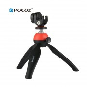 Montura Para Trípode PULUZ Con 360 Grados La Cabeza De Bola Y Abrazadera Para Teléfono Teléfono Rojo Para DSLR