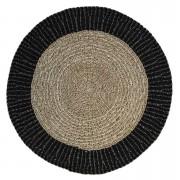 HSM Collection tapis Seff - naturel/noir - 120x120 cm - Leen Bakker