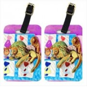 Caroline's Treasures 7103BT Red And White Pomeranians On The Couch Luggage Tags Luggage Tag(Multicolor)