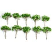 Diorama Trees G6.5cm 10 Pcs Set Model Railroad, Architectural Models, Tools Realistic Trees