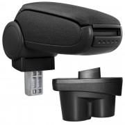 Подлакътник [pro.tec]® Opel Corsa E с контейнер за съхранение, Текстил/Черен