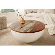 Salontafel Tokio 70cm wit duurzaam gerecycled hout