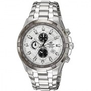 Casio Chronograph White Round Watch -EF-539D-7AVDF (ED370)