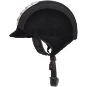 Bulaqi Dass Horse Riding Helmet Polo Cap With White Strips In Black - For Men And Women Fibre 22 Inch