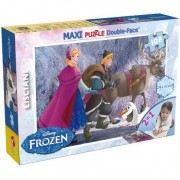 Puzzle Lisciani, SuperMaxi cu 2 fete, Frozen, La plimbare, 108 piese