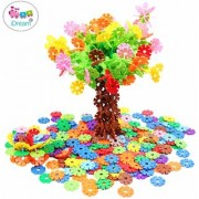 iDream 150pcs 2.3cm Multicolour Interlocking Snowflakes Model Building Block Creative Educational Toy for Kids