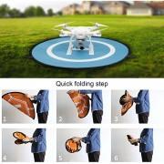 EH Fast-Fold Nylon Impermeable De Doble Cara De Aterrizaje Despegue Portátil Almohadilla De Estacionamiento