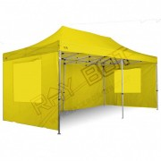 ray bot Gazebo pieghevole 3x6 giallo Exa 45mm alluminio senza laterali PVC 350g