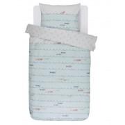 Covers & Co Barevné bavlněné povlečení na postel pro děti, 100 % bavlna, dětské povlečení, obrázkové povlečení, povlečení Fishy 140x220+60x70 - 140x220+60x70