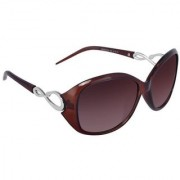 HH (Jazz008brown) Brown Oval Sunglasses