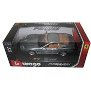 Bburago Ferrari 550 Maranello, Gray - 26004 1/24 Scale Diecast Model Toy Car