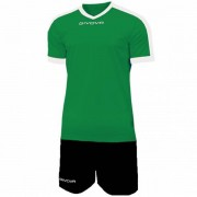 Givova Kit Revolution Voetbalshirt met Shorts groen zwart - zwart - Size: Extra Large