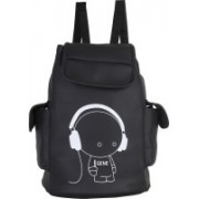 JMO27Deals FB-07 High Quality Leatherette 15 L Backpack(Black)