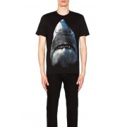 Givenchy Cuban Fit Shark Tee in Black. - size XS (also in L,M,S,XL)