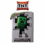 Lenjerie de pat Minecraft - Creeper 3D