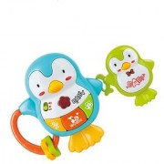 Playing and Learning Battery Operated Colorful Musical Penguin Shape Toy For Kids