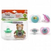 Pachet Kit ingrijire+Set 2 suzete 0+ Vital Baby Model - pentru fete