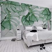 ponana Fondo De Pantalla 3D Personalizado Moderno Planta Tropical Hoja Foto Murales De Pared Sala De Estar Dormitorio Decoración Nórdica Para El Hogar Pegatinas 3D-280X200Cm