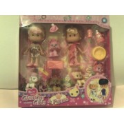 Glamour Girls & Puppies Playset, Includes Two Dolls, and Five Puppy Figures (Comparable to LPS Figur