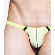 Mategear Nan Song XIV Tapered Sides V Front Mesh Overlay Ultra Pouch Bikini Swimwear White 1650202