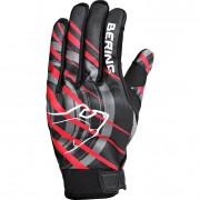 Bering Motorradschutzhandschuhe, Motorradhandschuhe kurz Bering Master Textil Sommerhandschuh schwarz/rot L rot