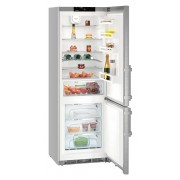 Combina frigorifica Liebherr CNef 5735, 402 L, No Frost, Display, Control electronic, Alarma usa, Raft sticle, SuperCool, HolidayMode, H 201 cm, A+++, Inox, finisaj Antiamprentă