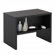 CARO-Möbel Nachttisch NEY mit offenem Fach in schwarz