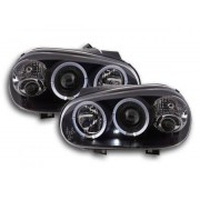 FK-Automotive fari Angel Eyes VW Golf 4 tipo 1J anno di costr. 98-03 neri