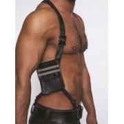 Mister B Leather Wallet Harness Black/Grey 601306
