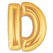 Balon folie figurina litera D aurie