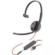 Слушалка с микрофон Plantronics Blackwire C3215 USB-A, 3.5mm Jack Mono, 209746-101