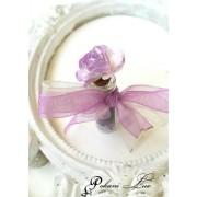 Сувенирче за гости на абитуриентски бал сватба и кръщене аметист с роза дуо над 20 бр