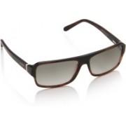 Image Rectangular Sunglasses(Brown)