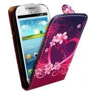 Samsung I8190 Galaxy S3 mini Love Heart Flip Калъф + Протектор