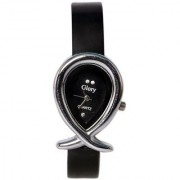 Oval Dial Black Leather Strap Womens Quartz Watch 6 month warranty