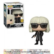 Lorraine Broughton [Black Coat] (Chase Edition): Funko Pop Movies X Atomic Blonde Vinyl Figure + 1 Classic Movie Trading Card Bundle [29913A]