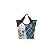 Bolsa Tote Monster High 14t03 Azul E Cinza Sestini