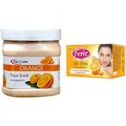 Fem De-Tan Crme Bleach 30g and Biocare Orange Face Scrub 500ml