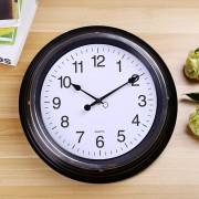 Home Office Room Metal Frame Silent No Marcando 14 Pulgadas De Pared Decorativo Redondo Reloj De Cuarzo (negro)