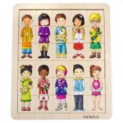 Puzzle amesteca si potriveste Copiii lumii Beleduc