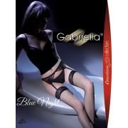 Gabriella - Elegant fishnet stockings with suspender belt Blue Night