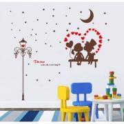 Decor Villa Wall Sticker (star couple love Surface Covering Area 17 x 18 Inch)